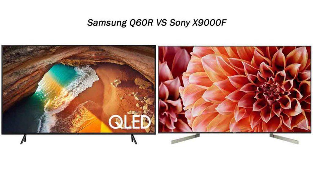 مقایسه تلویزیون سامسونگ Q60R با سونی X9000F