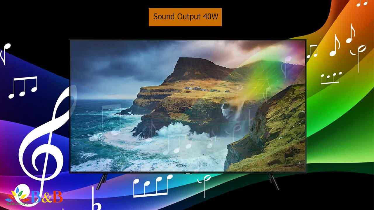 کیفیت صدای تلویزیون سری 7 مدل Q70R