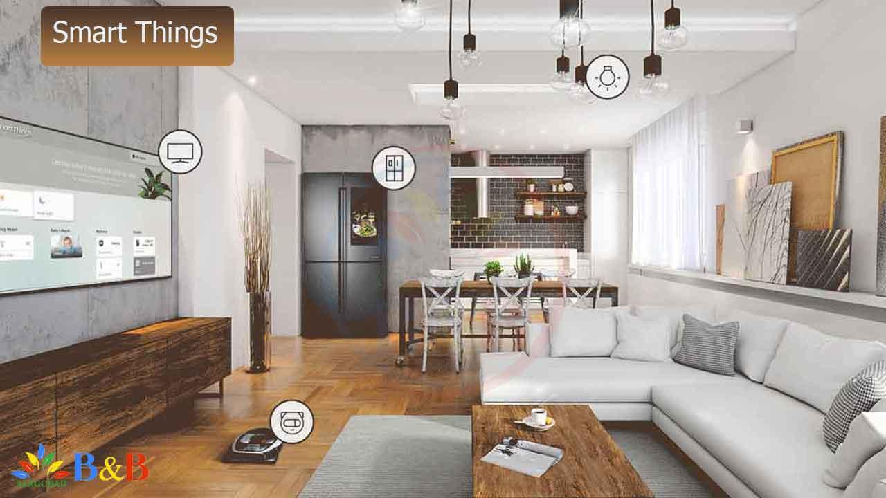 برنامه SmartThings در تلویزیون سامسونگ Q70R