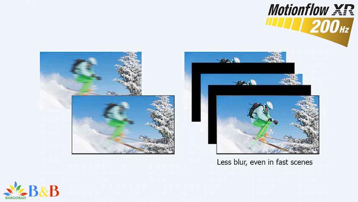 Motionflow XR 200 در سونی X8000H
