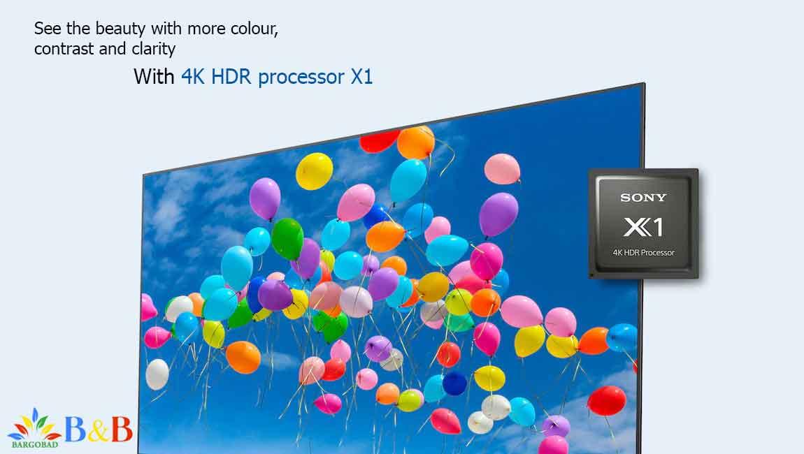 پردازنده X1 تلویزیون سونی X8000H