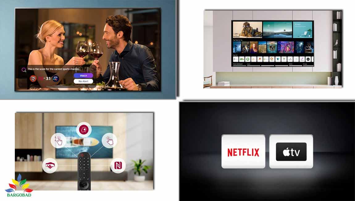 امکانات هوشمند در تلویزیون ال جی NANO80