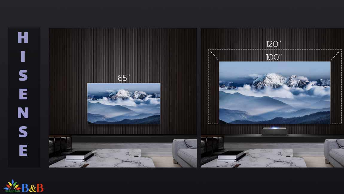 تلویزیون لیزری 100 اینچ هایسنس L10E