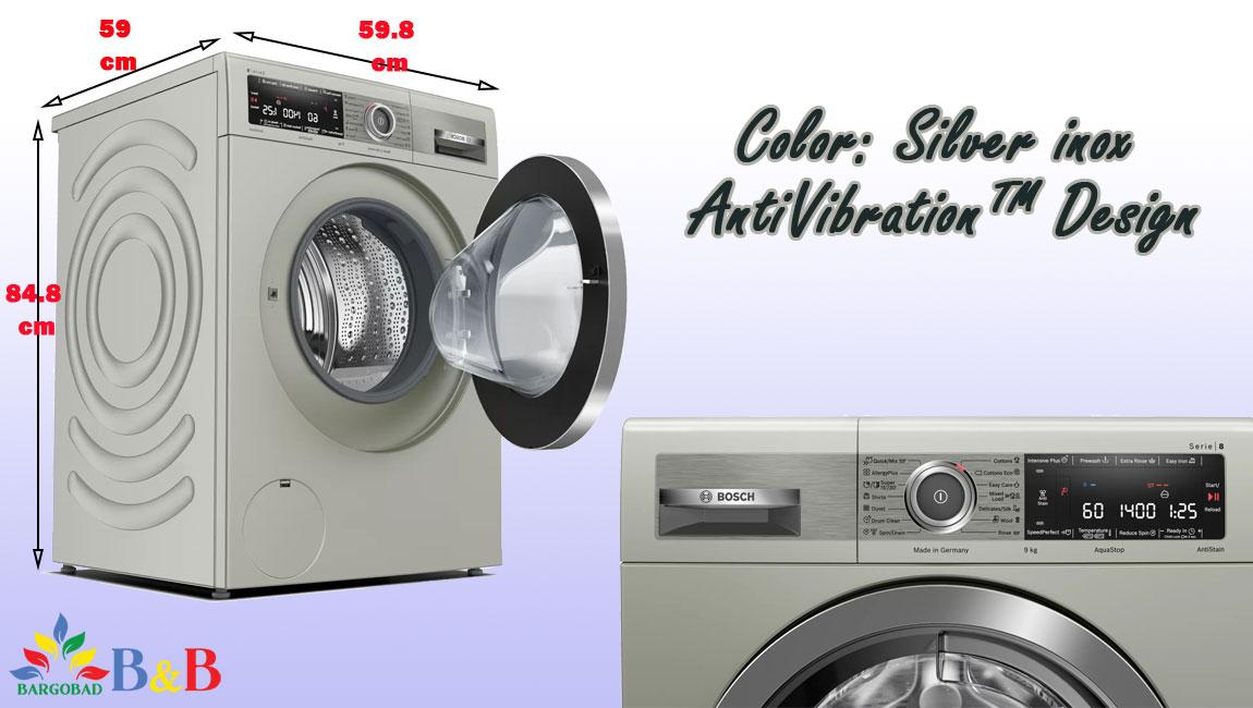 طراحی ماشین لباسشویی 9 کیلو بوش 28MX0ME