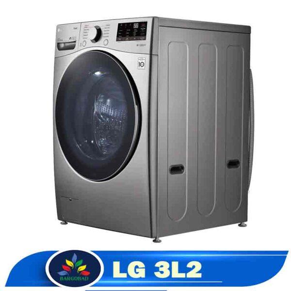 نمای کناری ماشین لباسشویی 20 کیلو ال جی 3L2