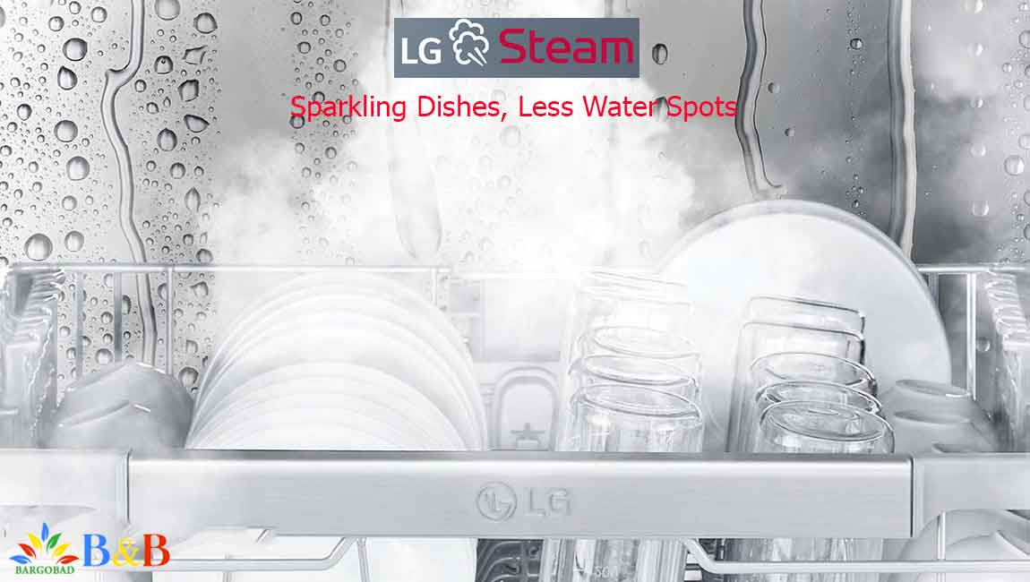 قابلیت شستشو با بخار در ظرفشویی ال جی 425