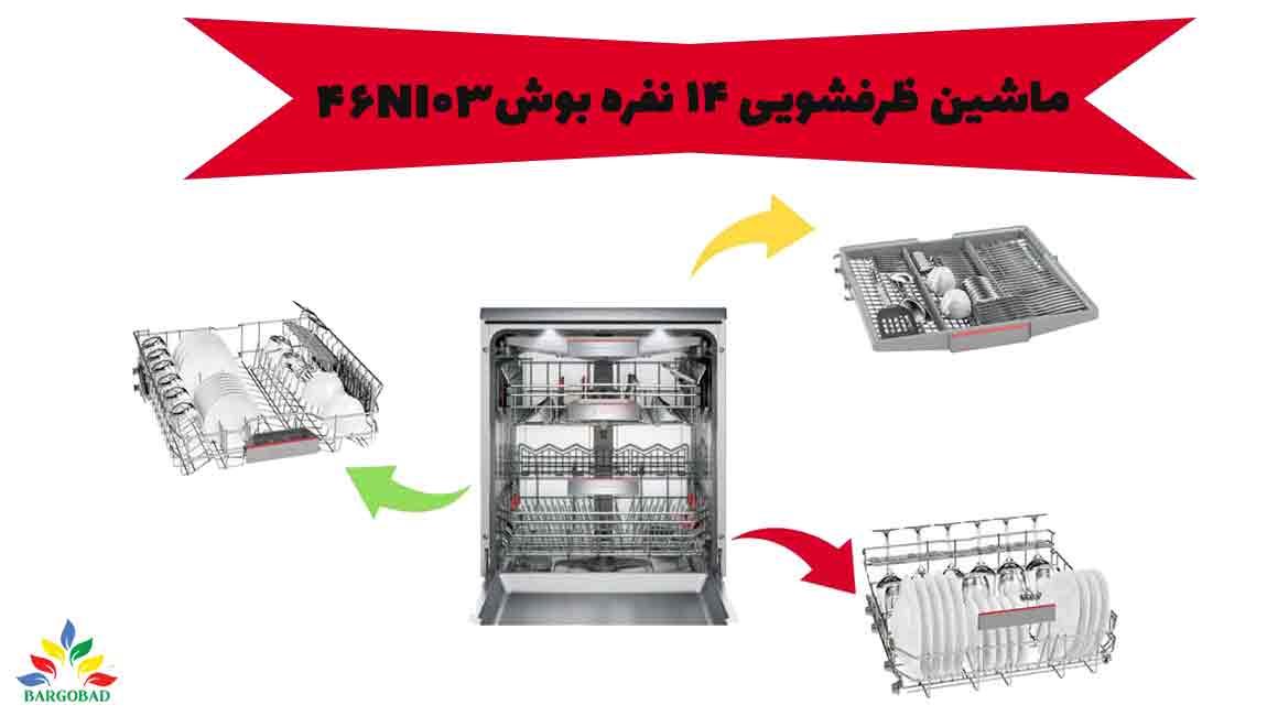 سبد های قابل انعطاف در ماشین ظرفشویی SMS46Ni03