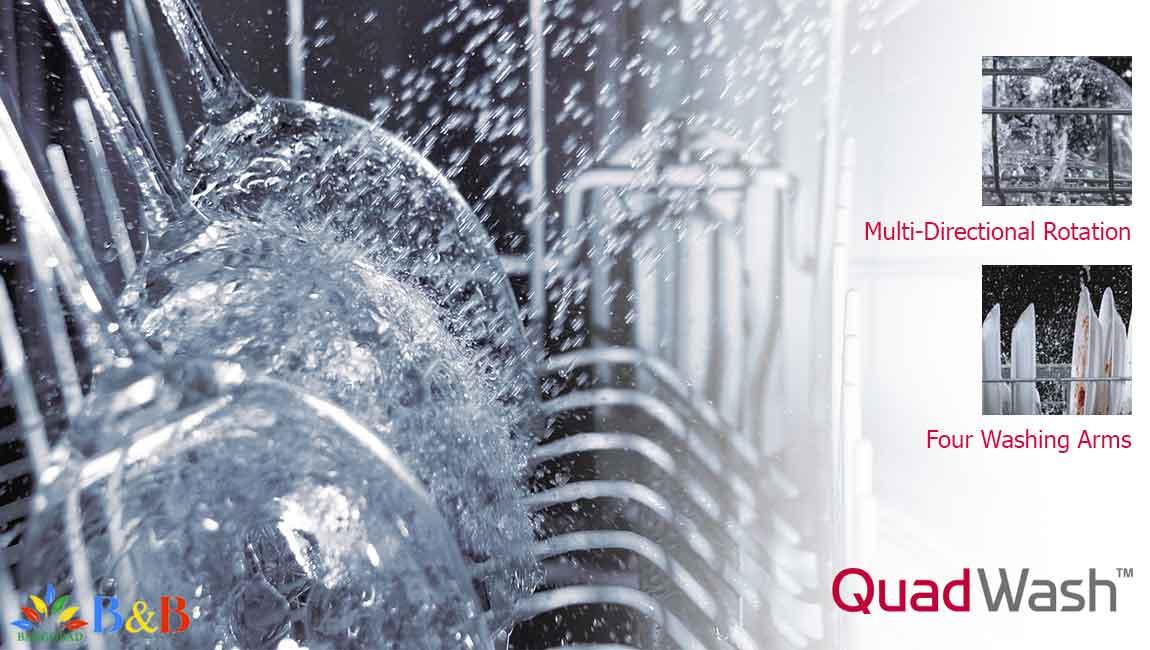 قابلیت شستشوی چهار گانه در ماشین ظرفشویی ال جی 512