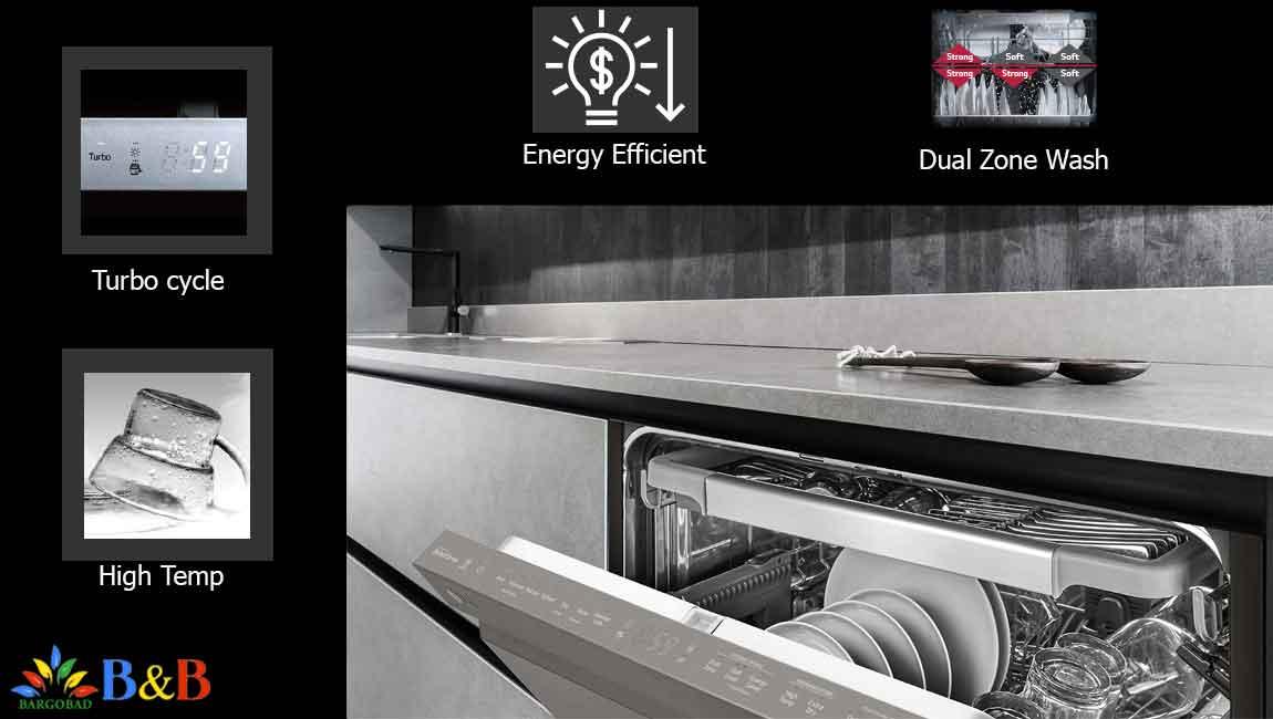 برنامه های شستشوی ماشین ظرفشویی 14 نفره ال جی 512