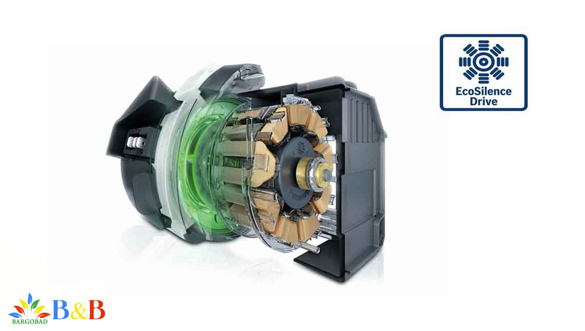 موتور قدرتمند و کم صدا ماشین ظرفشویی بوش SMS68TW06E