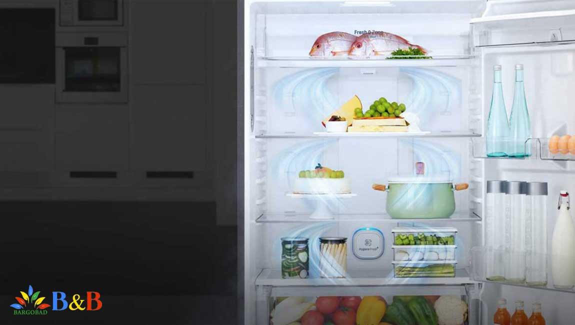 طراحی داخلی یخچال F882