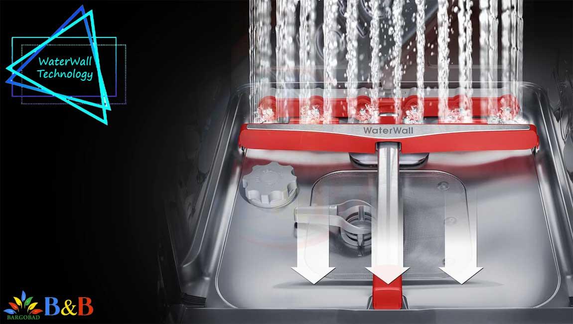 تکنولوژی WATER WALL در ظرفشویی سامسونگ 8550