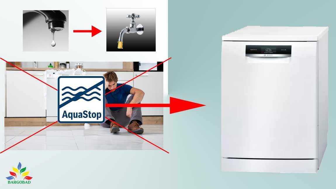 فناوری Aqua stop در ماشین ظرفشویی بوش 88TW02M