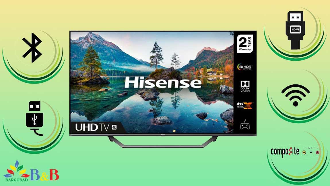 درگاه های ارتباطی تلویزیون هایسنس A7500