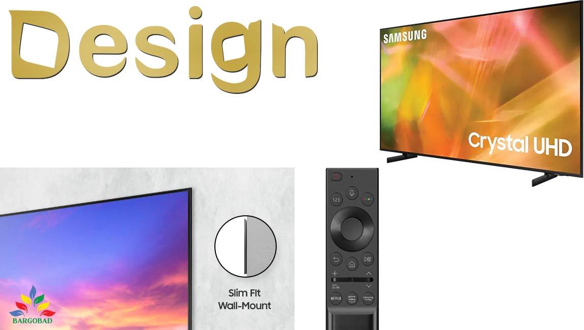 طراحی تلویزیون سامسونگ AU8000