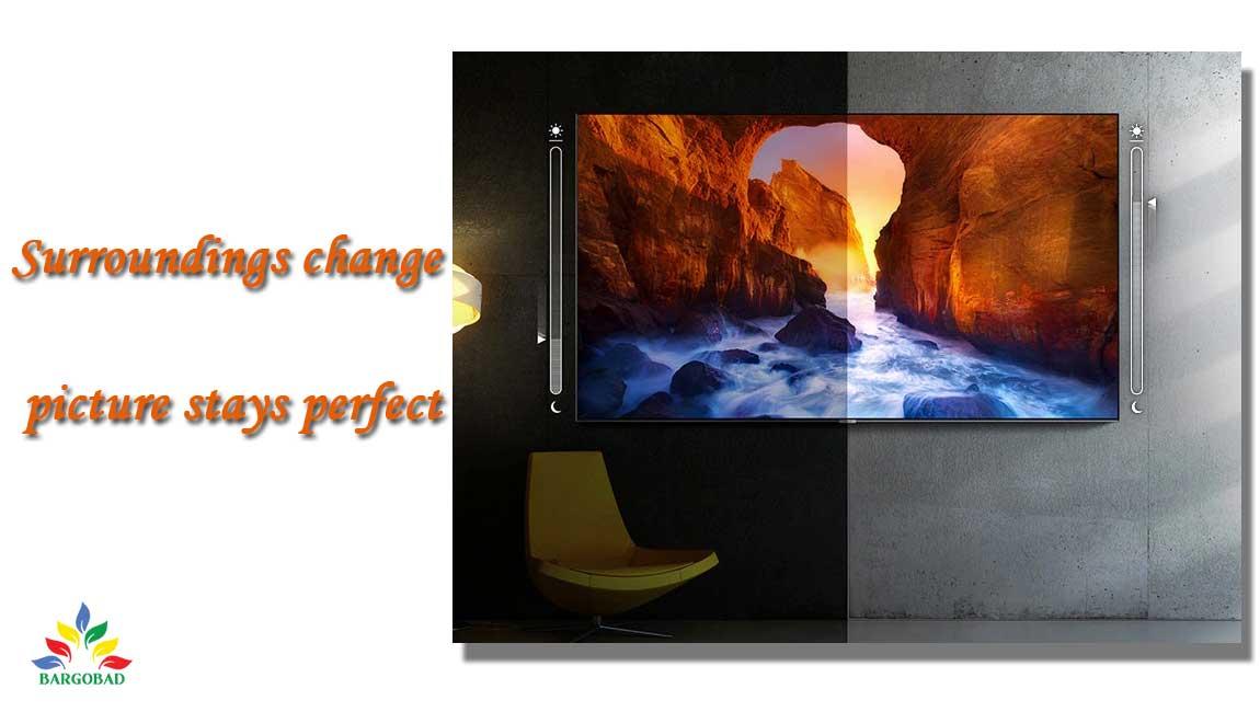 تناسب نور تصویر با محیط در تلویزیون سامسونگ QN85A