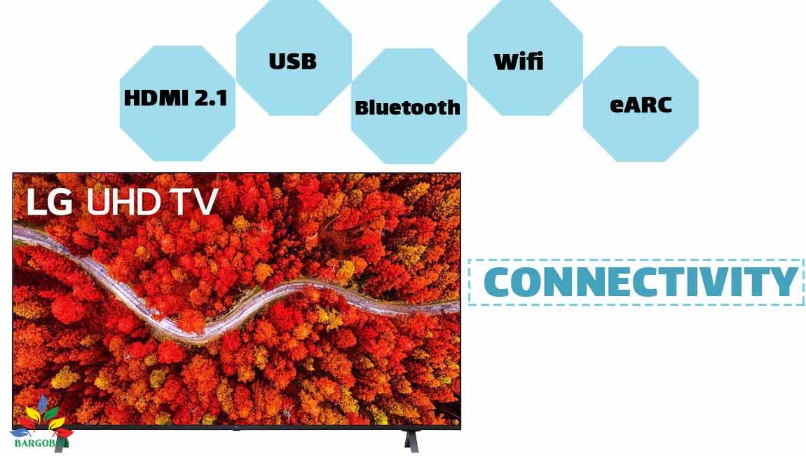 درگاه های ارتباطی تلویزیون ال جی up8000