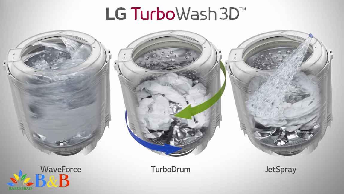 برنامه turbo whash در لباسشویی ال جی J3