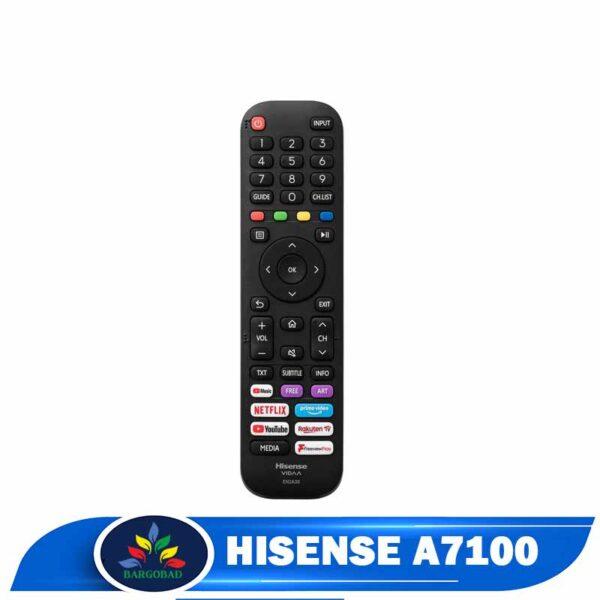 ریموت تلویزیون هایسنس A7300 مدل 2020