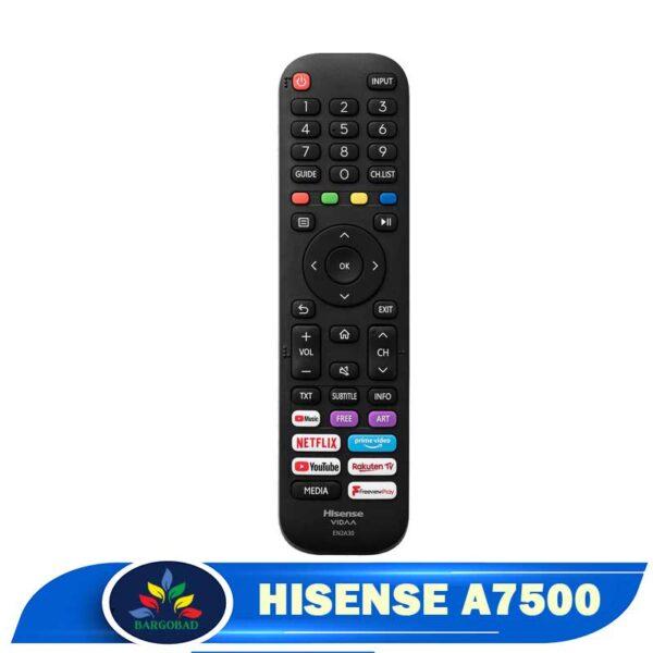 ریموت کنترل تلویزیون هایسنس A7500