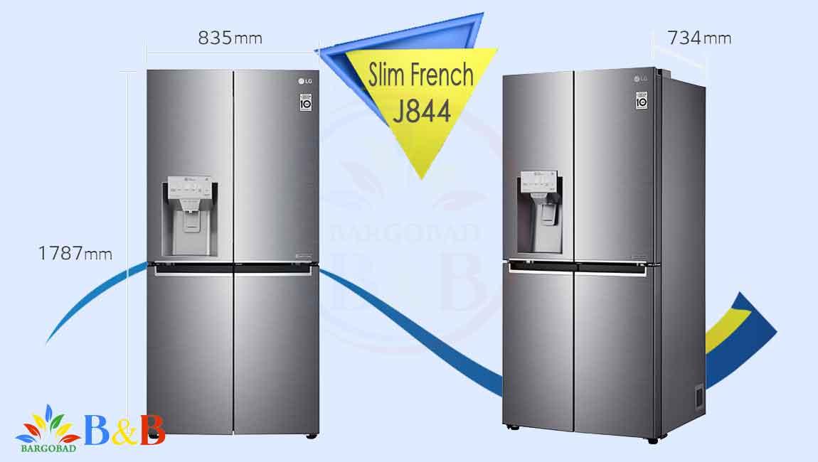طراحی یخچال فریزر ال جی J844