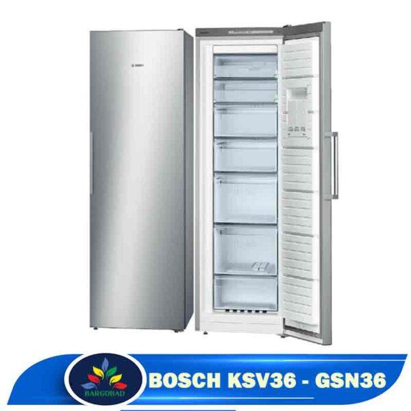 یخچال فریزر دوقلو بوش KSV36-GSN36