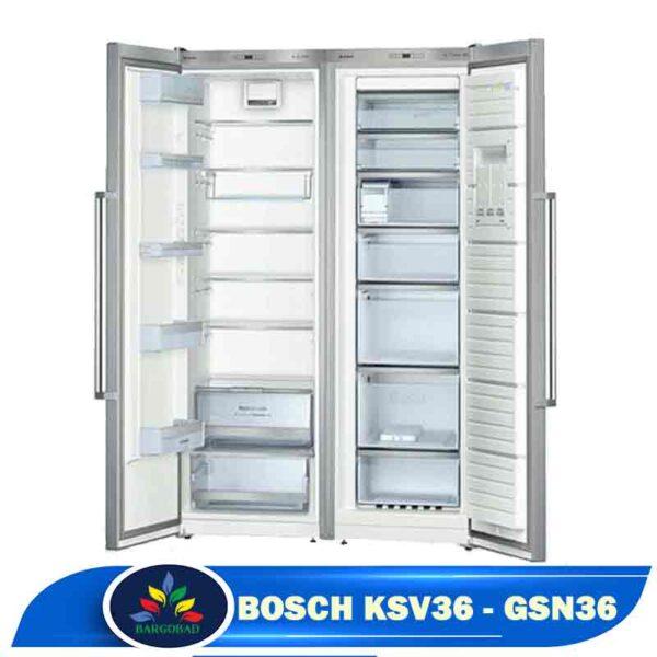 فضای داخلی یخچال دوقلو بوش KSV36-GSN36