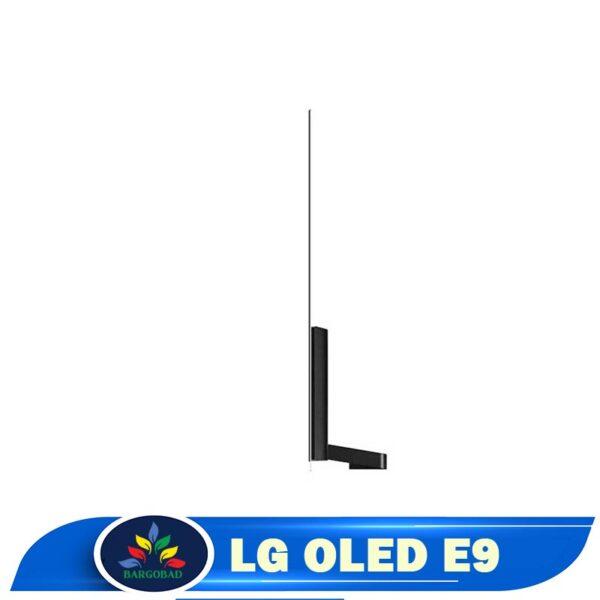 ضخامت تلویزیون ال جی اولد E9 مدل 2019