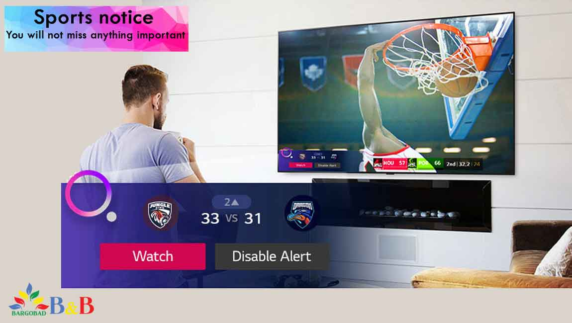 هشدار ورزشی تلویزیون 50 اینچ ال جی NANO79