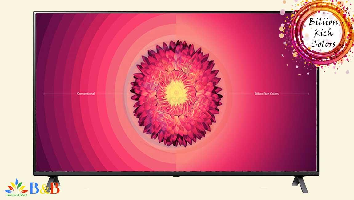 رنگ غنی در تلویزیون 49 اینچ ال جی NANO80