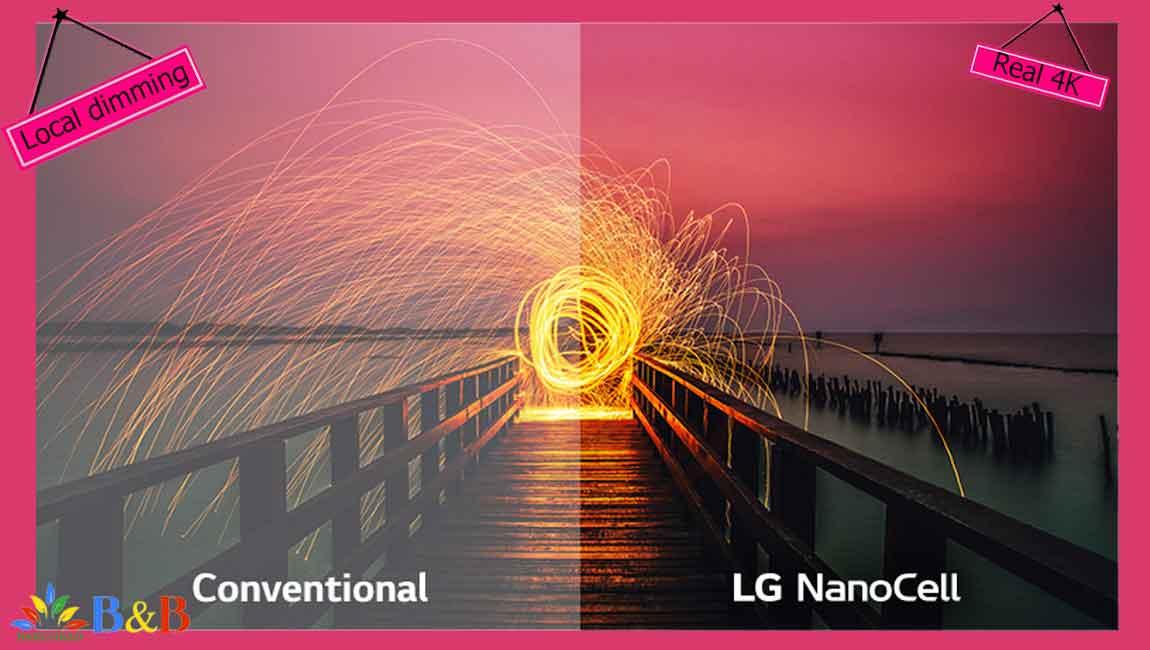کیفیت تصویر تلویزیون 55 اینچ ال جی NANO85