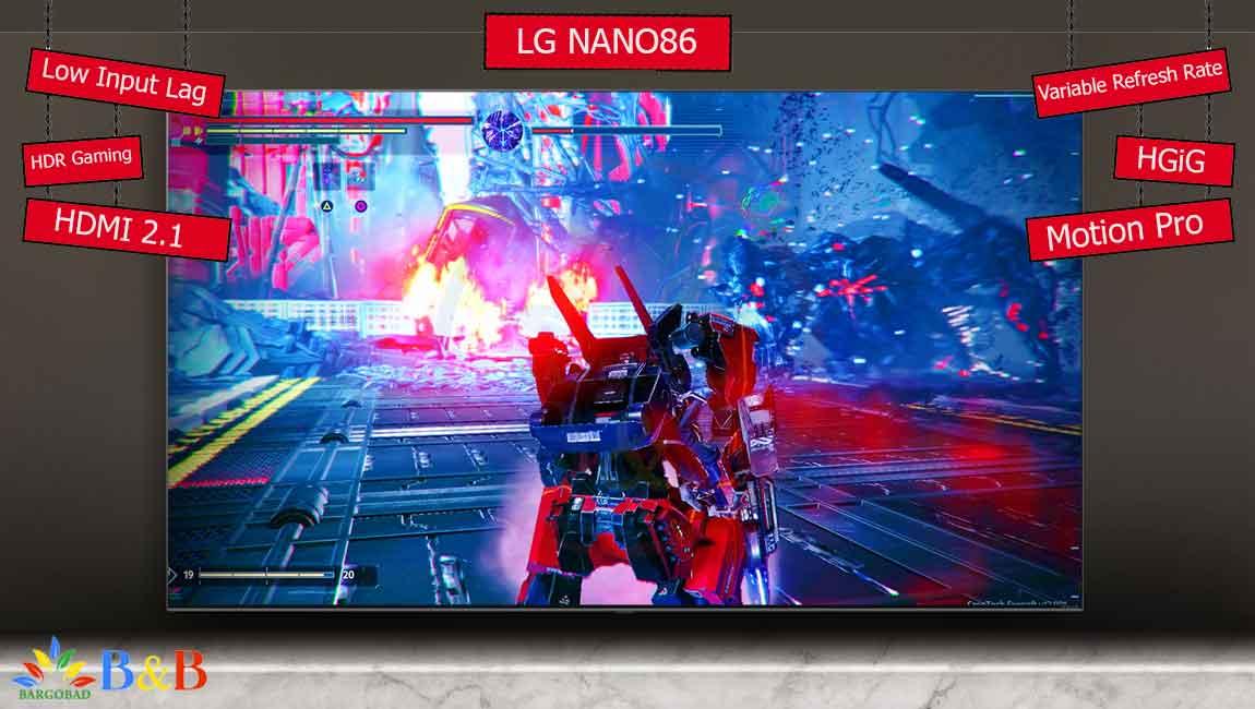قابلیت بازی تلویزیون 65 اینچ ال جی NANO86
