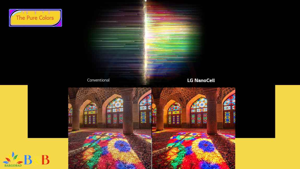 افزایش خلوص رنگ در تلویزیون NANO86
