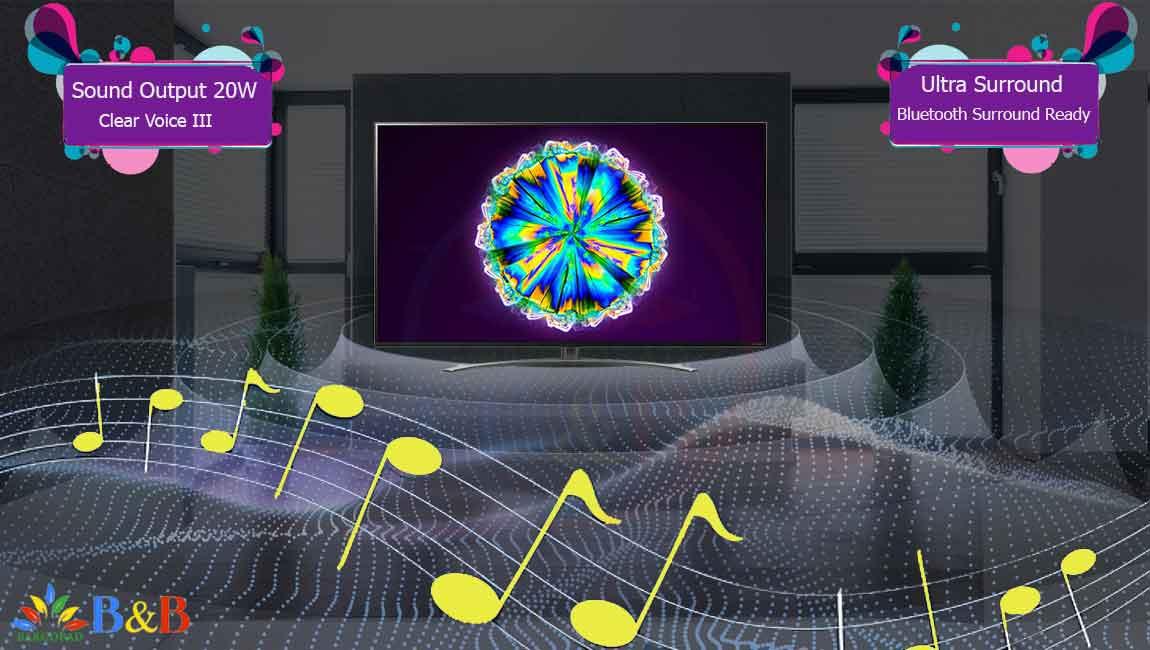 سیستم صوتی در تلویزیون NANO86