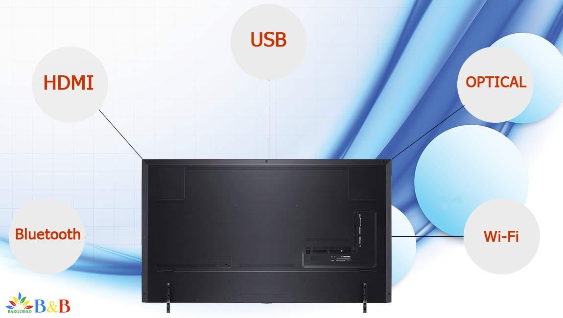 درگاه های ارتباطی تلویزیون ال جی NANO90
