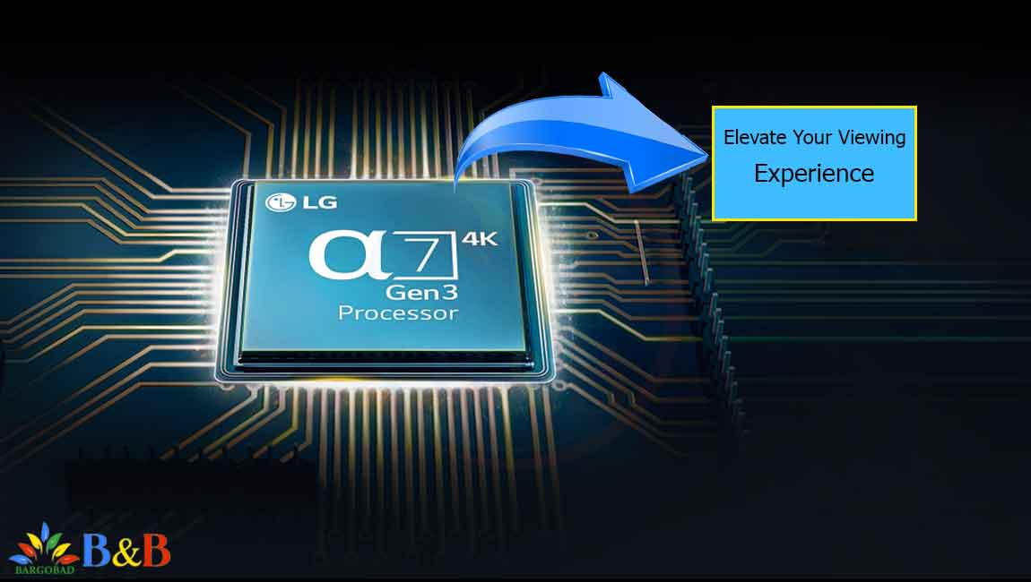 پردازنده تلویزیون 55 اینچ ال جی NANO90