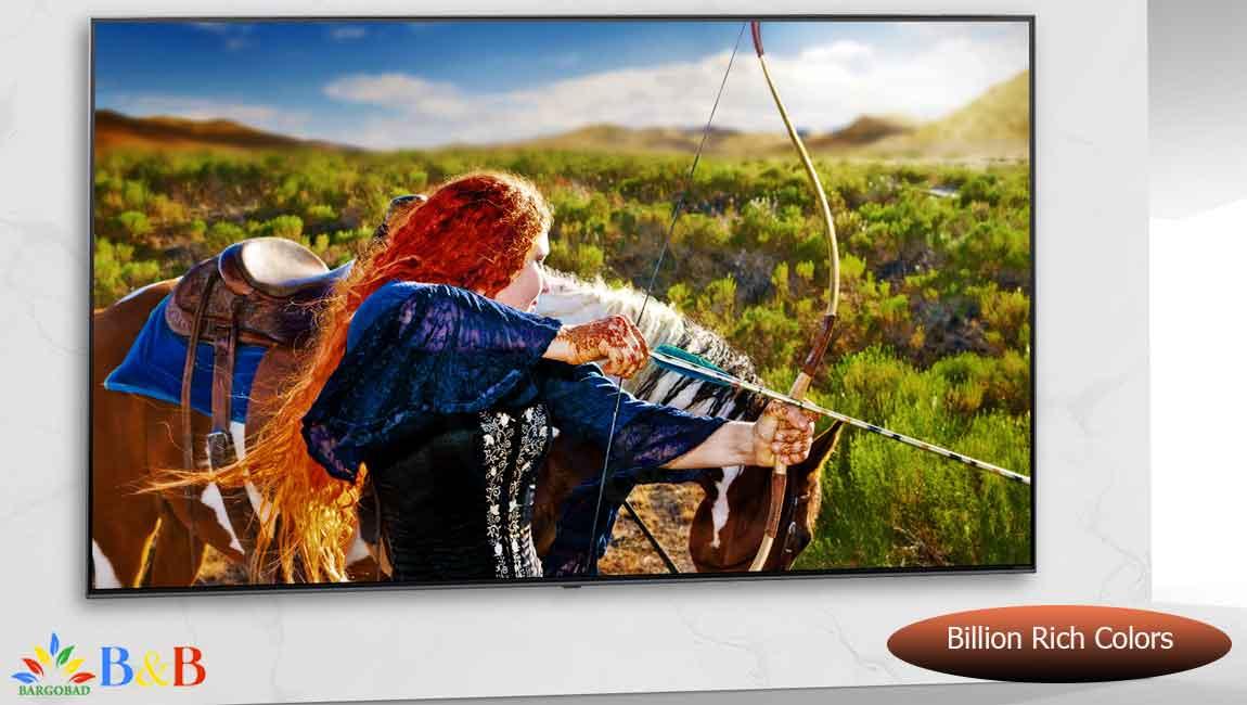 طیف گسترده رنگ در تلویزیون NANO90