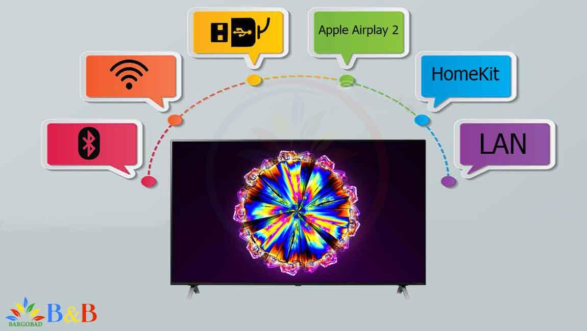 درگاه ها تلویزیون 55 اینچ ال جی NANO90