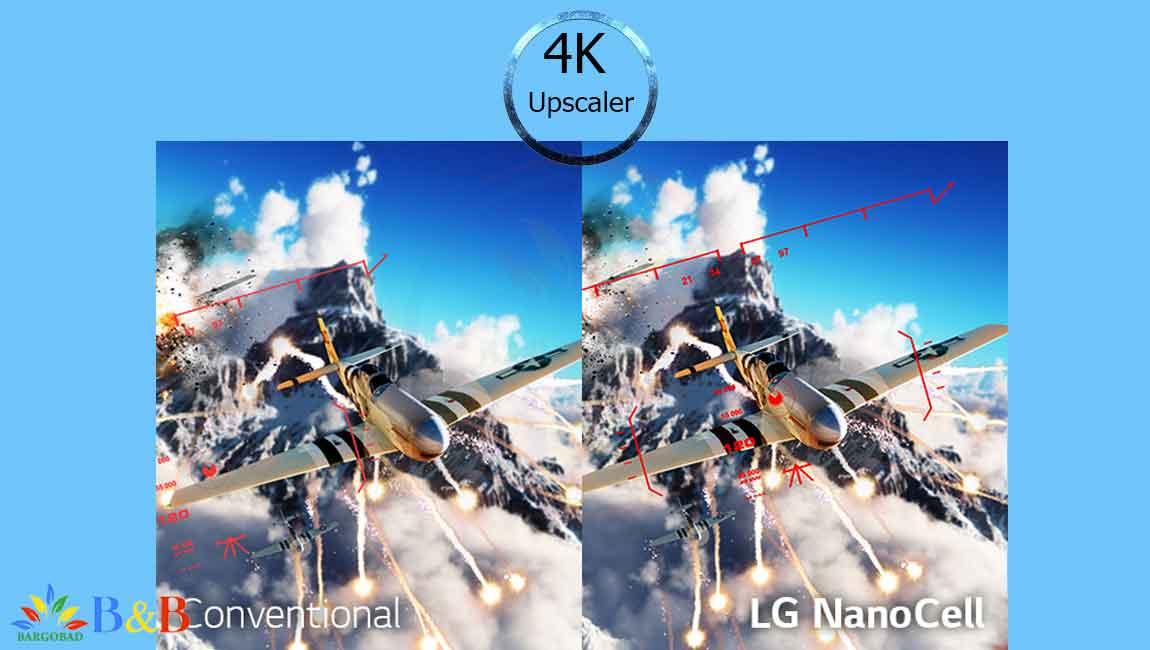ارتقاء کیفیت تصویر تلویزیون 55 اینچ ال جی NANO90
