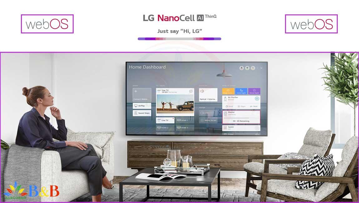 سیستم عامل تلویزیون 65 اینچ ال جی NANO95