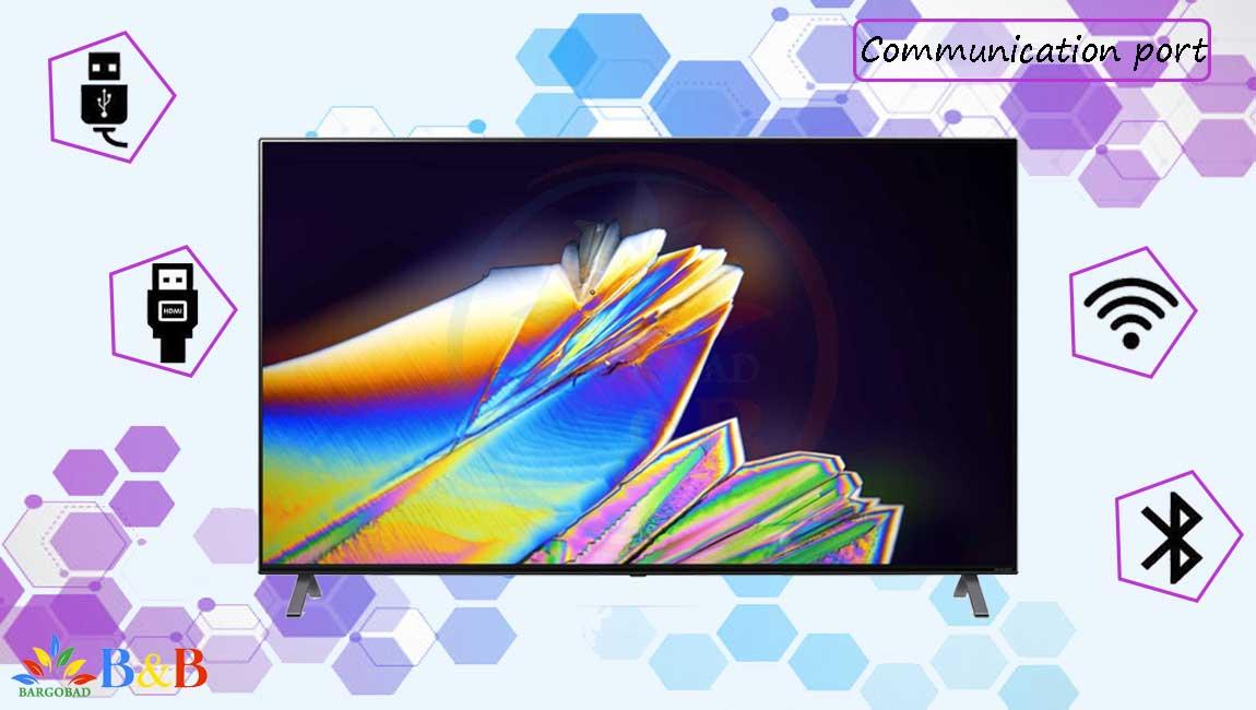 درگاه های ارتباطی تلویزیون 65 اینچ ال جی NANO95