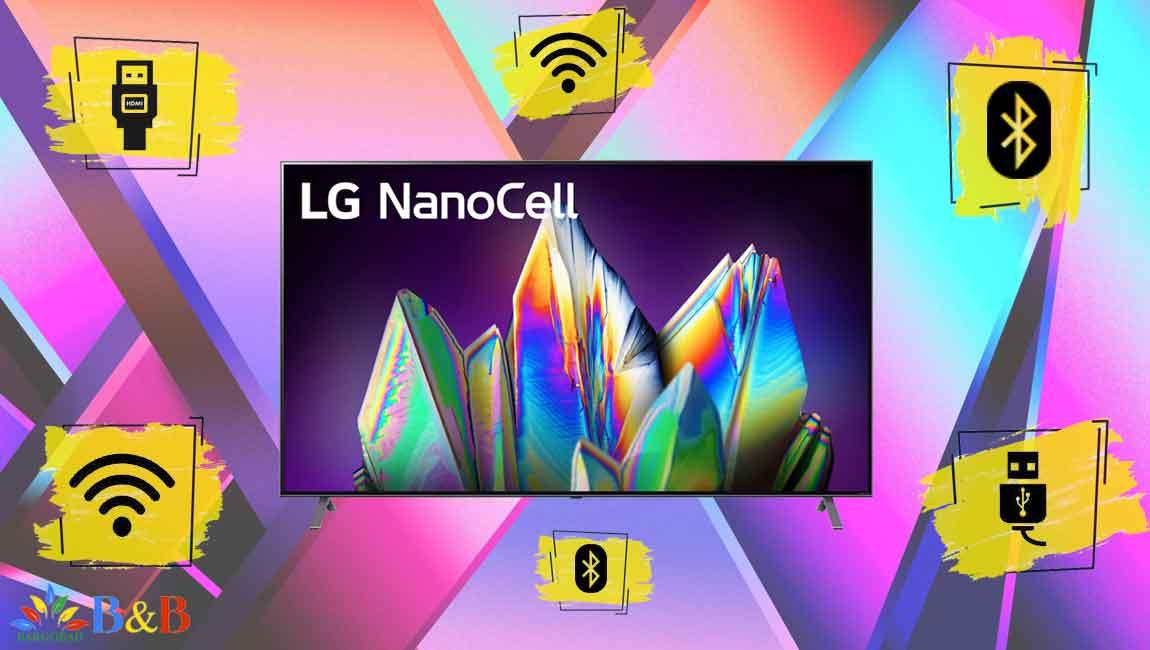 درگاه های ارتباطی تلویزیون 65 اینچ نانوسل ال جی NANO99