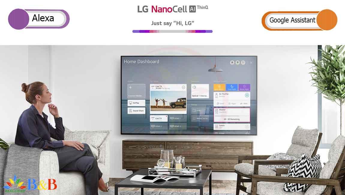 امکانات هوشمند تلویزیون 65 اینچ نانوسل ال جی NANO99