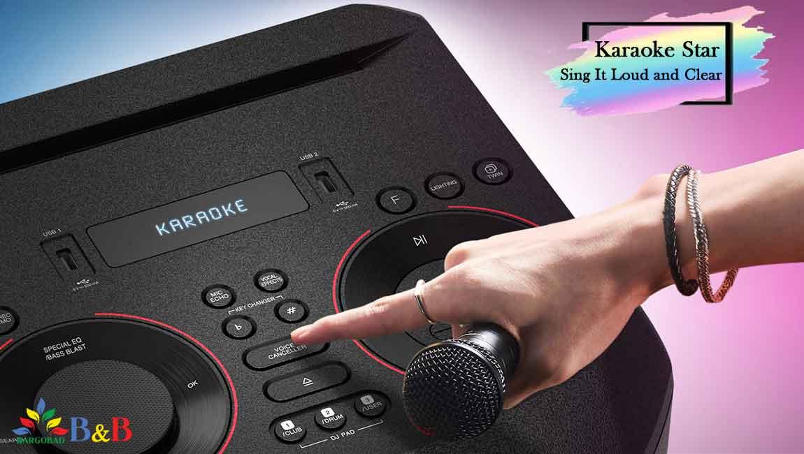 قابلیت کارائوکه در سیستم صوتی ال جی ON7