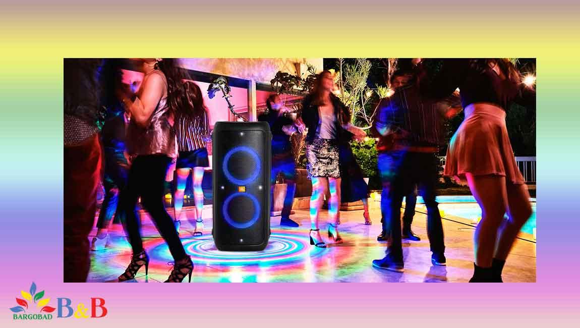 افکت های نوری در ساندبار جی بی ال party box 300