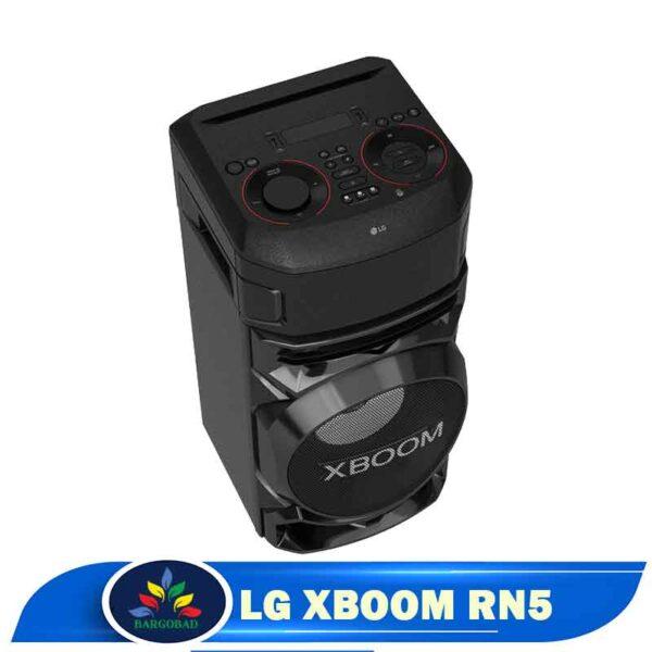نمای بالا سیستم صوتی ال جی XBOOM RN5