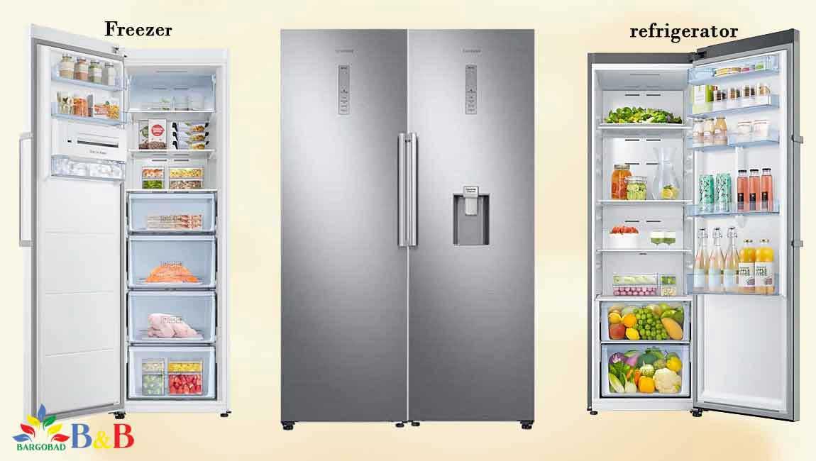 طراحی یخچال فریزر دو قلو ال جی RR39-RZ32