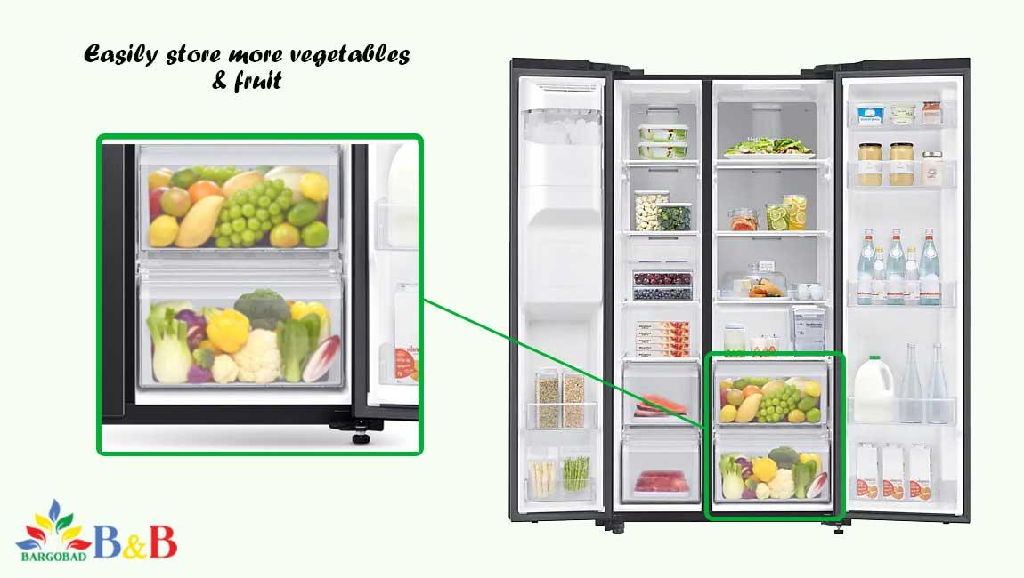کشو سبزیجات یخچال فریزر سامسونگ RS64