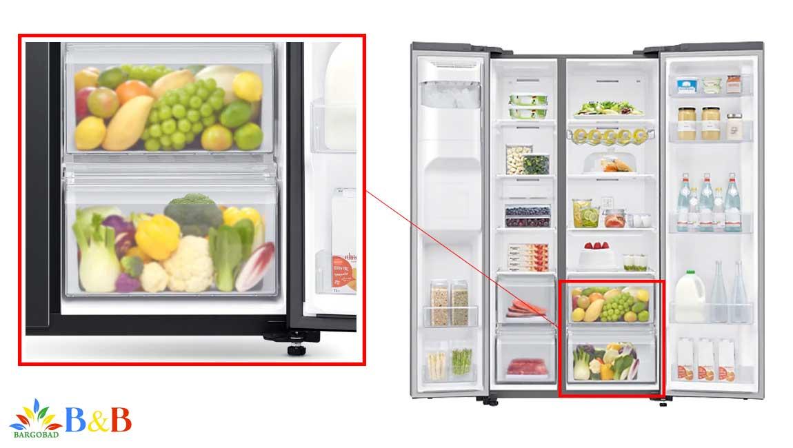 کشو سبزیجات در یخچال RS65