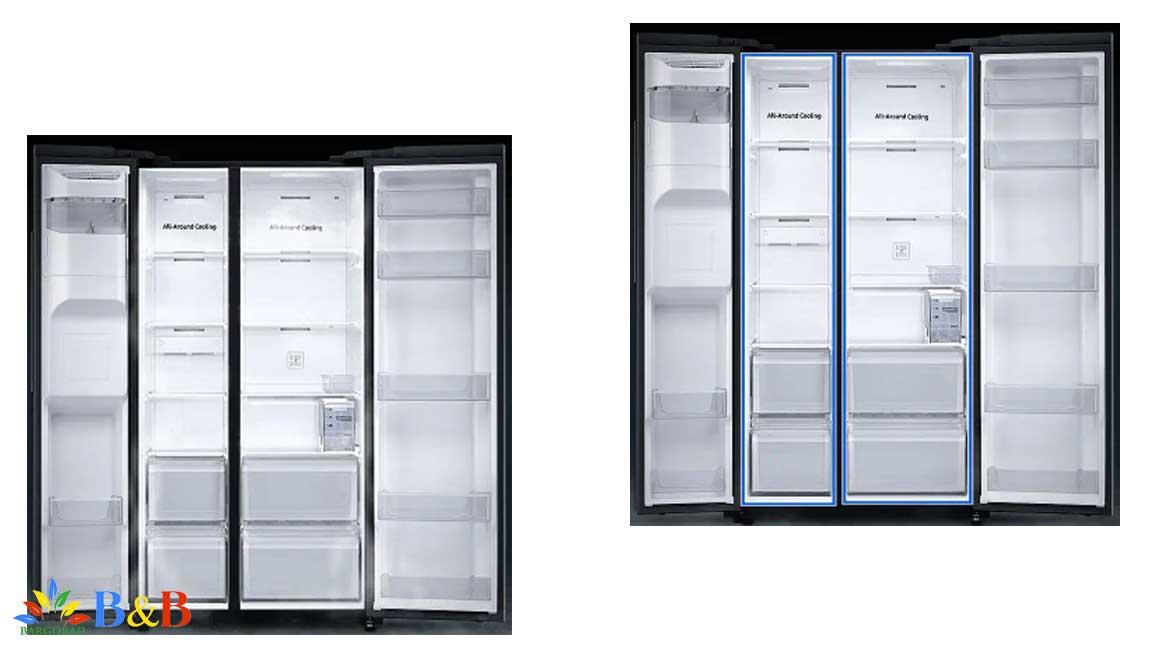 طراحی داخلی یخچال RS65